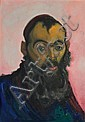 Saul Raskin 1878-1966 (American) Rabbi oil on metal board, Saul Raskin, Click for value