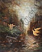 David Rakia b.1928 (Israeli) The angels oil on canvas, David Rakia, Click for value