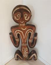 Woman, SEPIK, Papua New Guinea, 20th century painted wood