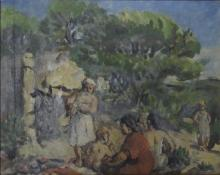 **Richard Maguet 1896-1940 (French) Landscape oil on paper mounted on canvas