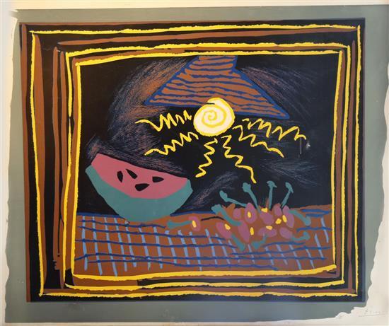 Pablo Picasso 1881-1973 (Spanish) Nature morte avec des past