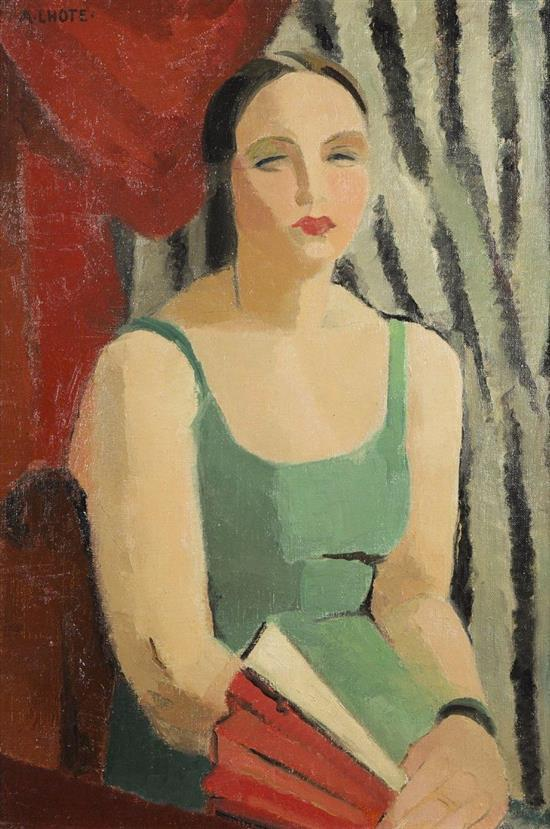 **Andrי Lhote 1885-1962 (French) Woman with fan, 1923 oil on canvas