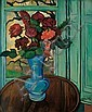 ** Suzanne Valadon 1865-1938 (French) Bouquet of flowers on round table, 1932 oil on canvas, Suzanne Valadon, Click for value