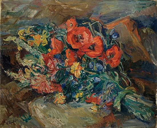 ** Henri Epstein 1892-1944 (French) Still life with flowers signed lower left