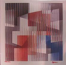 **Yaacov Agam b.1928 (Israeli) Angles agamograph