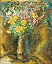 Yaacov Eisenscher 1896-1980 (Israeli) Flowers oil on board