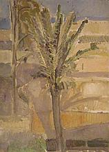 Ofer Lellouche b.1947 (Israeli) Palm tree in a landscape oil on canvas