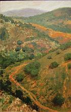 Natasha Brilliantova b. 1973 (Russian, Israeli) Jerusalem landscape, 2009 oil on paper