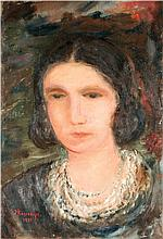 Joseph Kossonogi 1908-1981 (Israeli) Portrait of a woman, 1931 oil on canvas