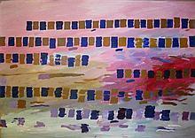 Osvaldo Romberg b. 1938 (Israeli) Colors, 1972 oil on paper