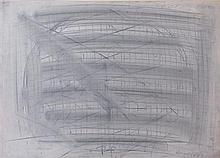 **Moshe Kupferman 1926-2003 (Israeli) Untitled, 1972 gouache and pencil on cardboard