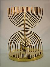 Yaacov Agam b.1928 (Israeli) Agam Menorah 24k gold plated brass