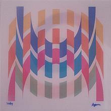 **Yaacov Agam b.1928 (Israeli) Rainbow hope agamograph