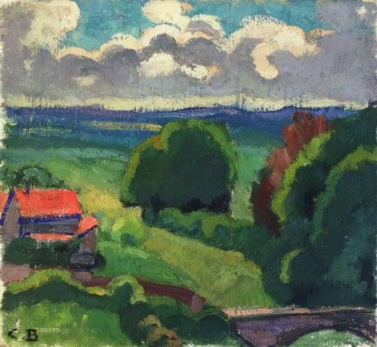 **Charles Théodore Bichet 1863-1929 (French) Summer landscape, 1924 oil on canvas