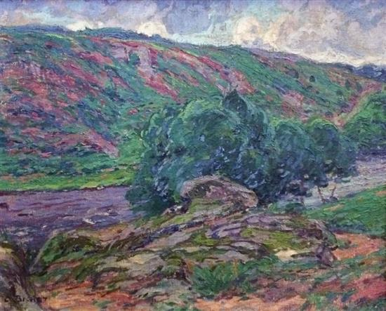 **Charles Théodore Bichet 1863-1929 (French) Landscape, 1908 oil on canvas