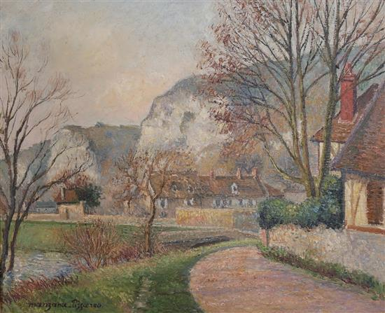 **Georges Manzana-Pissarro 1871-1961 (French) Landscape oil on paper mounted on cardboard