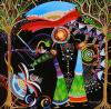 Raphael Abecassis b.1953 (Israeli) Adam and Eve acrylic on canvas, Raphael Abecassis, $2,400