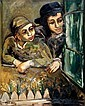 ** Mane Katz 1894-1962 (Russian, French) Two students, 1932 oil on canvas, Mane Katz, Click for value