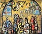 Yaacov Wexler 1912-1995 (Israeli) Figures in a cafe oil on canvas, Yaakov Wechsler, Click for value