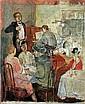 Avraham Naton 1906-1959 (Israeli) Concert at Cafe, 1939 oil on panel, Avraham Naton, Click for value