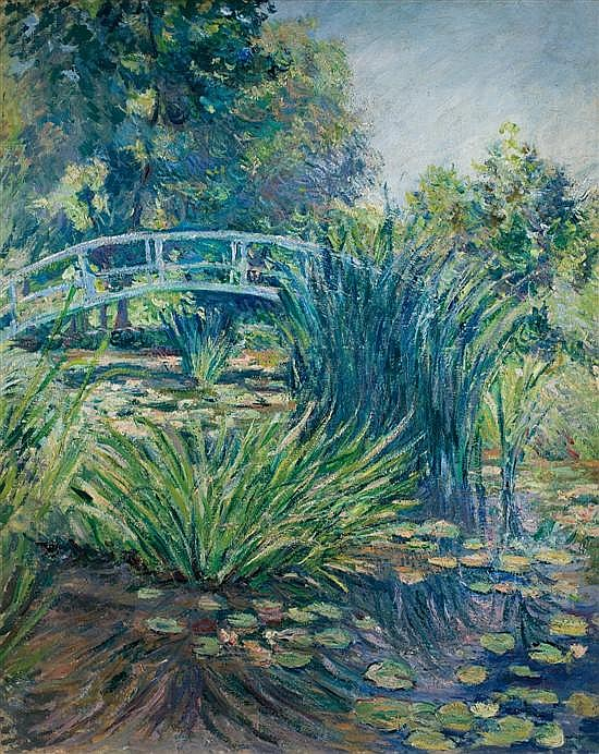 ** Blanche Hoschede-Monet 1865-1947 (French) Le Jardin de Monet a Giverny oil on canvas
