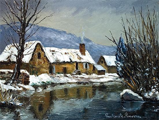 ** Paul-Emile Pissarro 1884-1972 (French) La Forge א St. Leonard des Bois oil on canvas