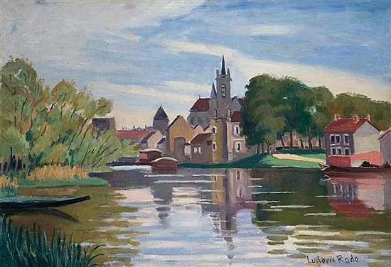 ** Ludovic Rodo Pissarro 1878-1952 (French) Vue de Moret sur Loing, 1932 oil on canvas