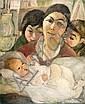 Kaete Ephraim Marcus 1892-1970 (Israeli) Blessed woman, c. 1927 oil on canvas, Kaete Ephraim  Marcus, Click for value