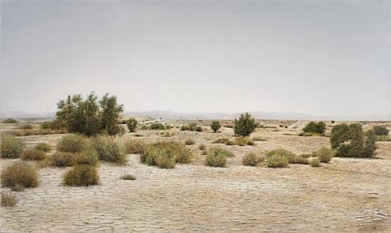 Natan Pernick b. 1980 (Israeli) Jordan Valley landscape, 2011 oil on canvas
