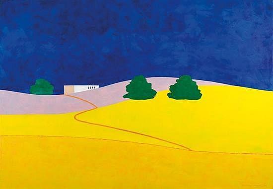 Itzu Rimmer b. 1948 (Israeli) Moshav Sde David, 2010 oil on canvas