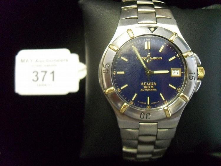 A gents wrist watch by Ulysse Nardin Acqua 120m