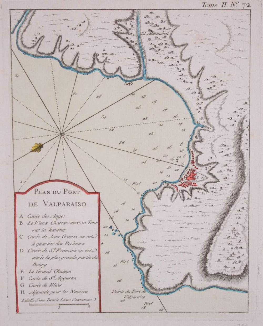 Lot - Rigobert Bonne, Carte du Perou avec une Partie des ...