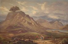 Sidney Richard Percy, British (1821-1886), Mountain Landscape, oil on canvas, 26 1/2 x 40 in. (67.3 x 101.6 cm)