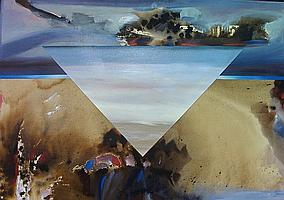 Ken Wallace Canadian (1945- ) TIPAK acrylic on