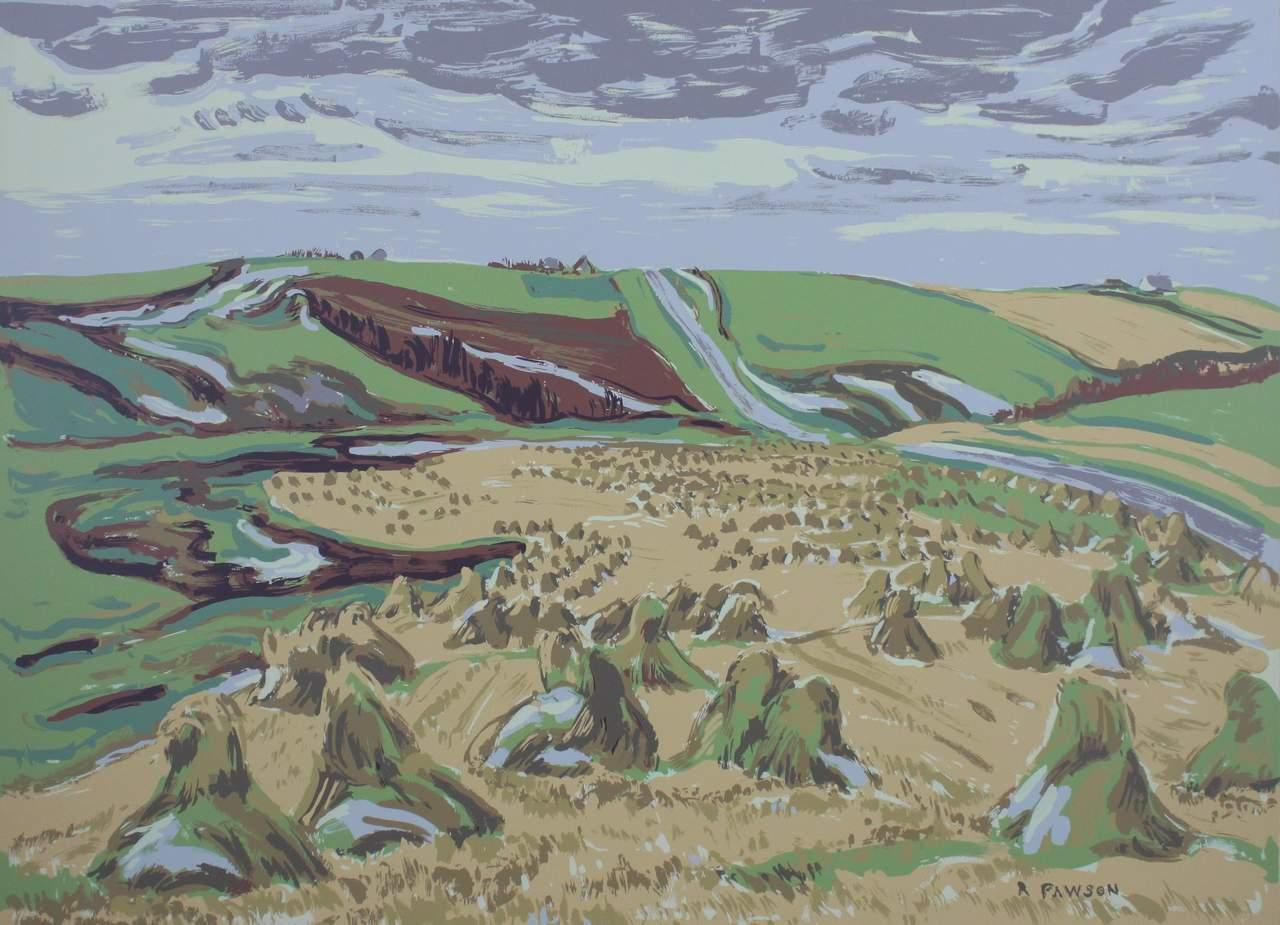 Ruth May Pawson, Canadian (1908-1994), Late Harvest, serigraph, 19 3/4 x 26 7/8 in. (50.2 x 68.3 cm)