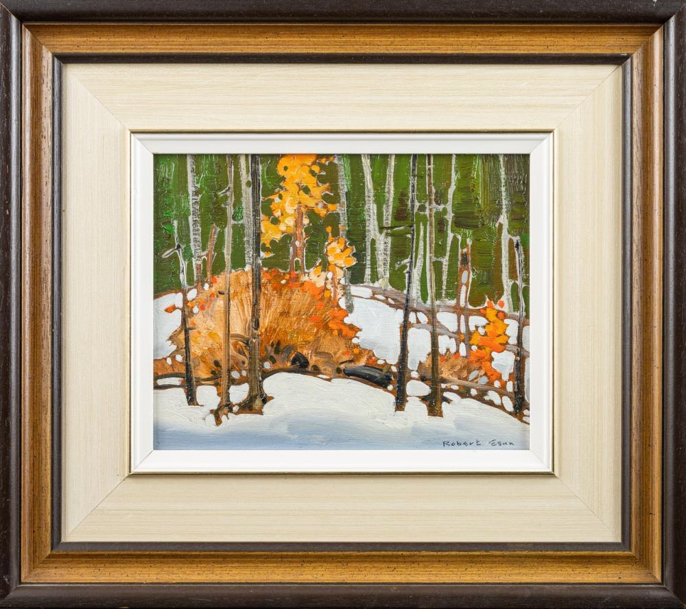 Robert Genn, Canadian (1936-2014), October Orange, oil on panel, 8 x 10 in. (20.3 x 25.4 cm)