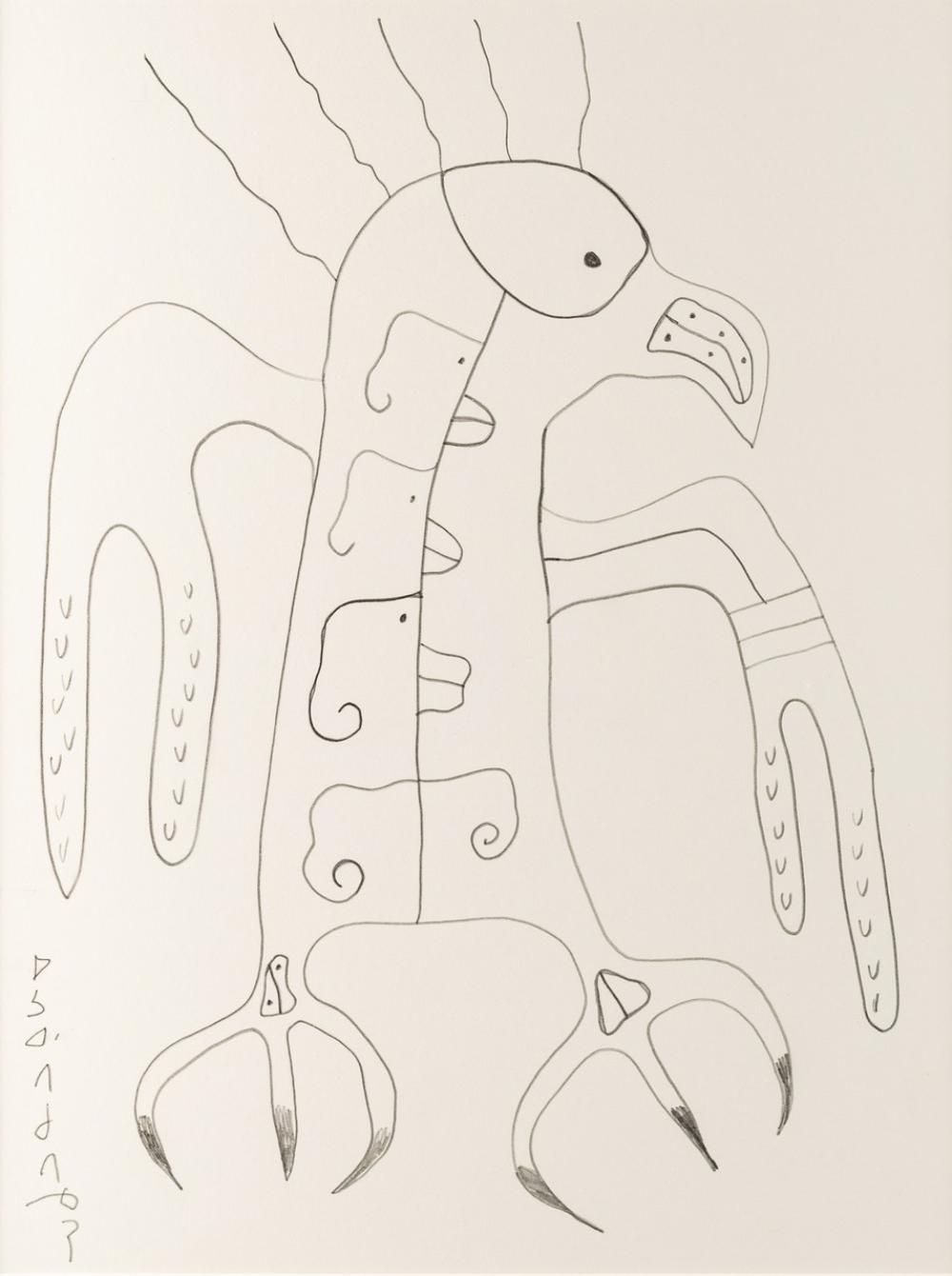 Norval Morrisseau, Canadian (1932-2007), Untitled - Bird, pencil on paper, 16 x 12 in. (41 x 30.5 cm)