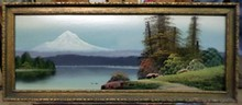 ROBERT W. WOOD MT HOOD PAINTING
