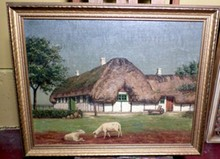 ENGLISH FARM SCENE WITH SHEEP