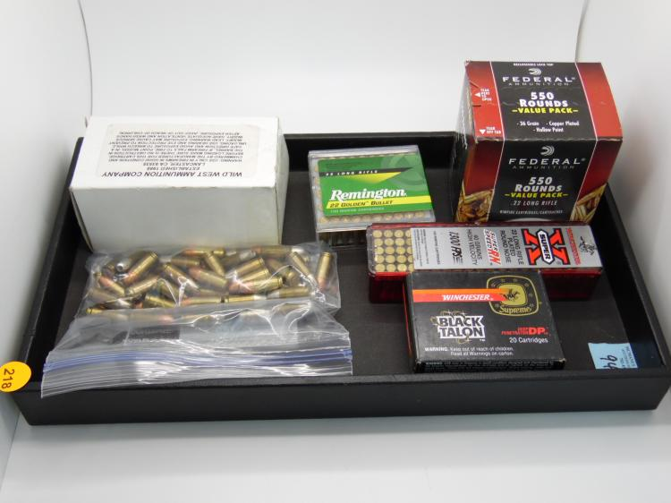 TRAY WITH AMMO - 550 ROUNDS 22 CAL LONG RIFLE, WINCHESTER