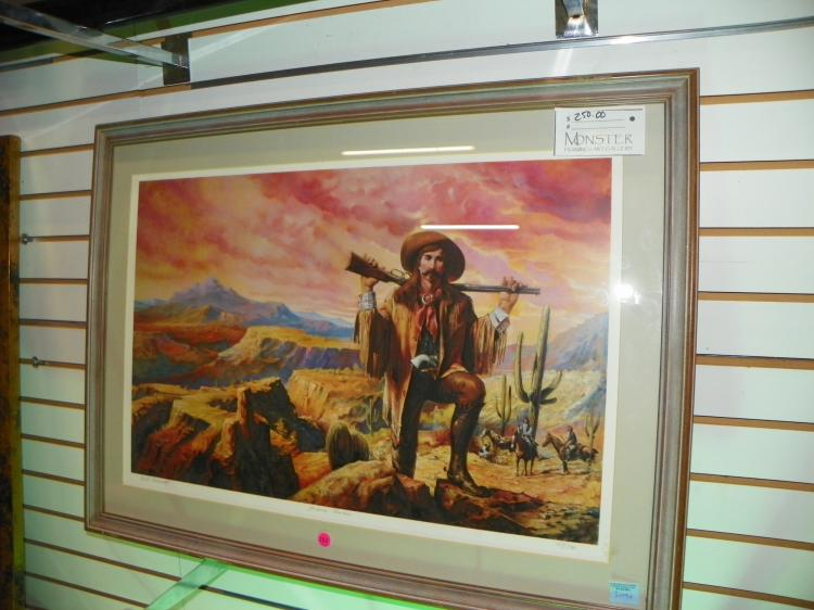 FRAMED & MATTED PRINT - PENCIL SIGNED BY BILL AHRENDT & NUMBERED - 183/500 -