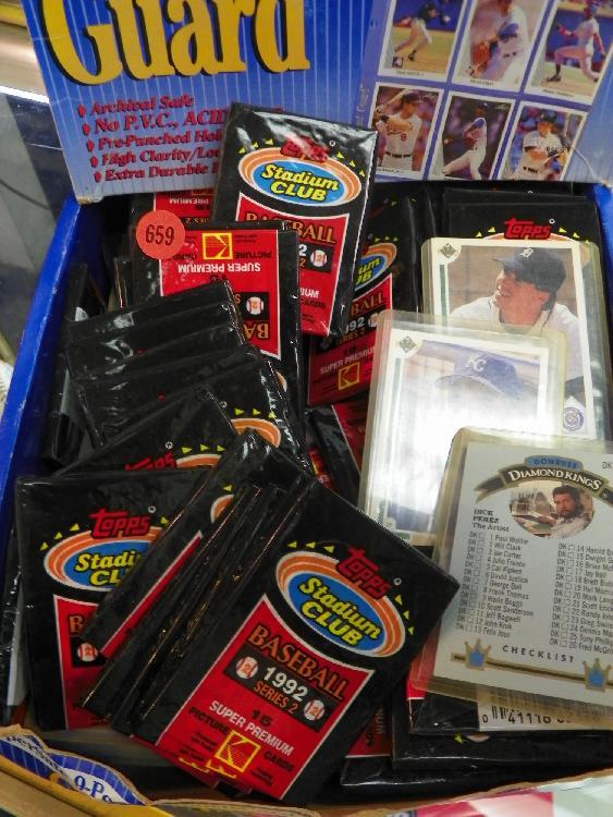 Box Of 1992 Topps Stadium Club Baseball Card Covers