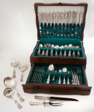 Francis First Sterling Silver Flatware Set By Reed & Barton