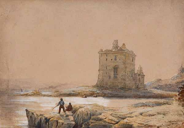 WALLER HUGH PATON ROSYTH CASTLE watercolour,