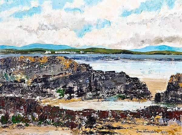 JIM NICHOLSON Port Ramsay - Isle of Lismore oil on