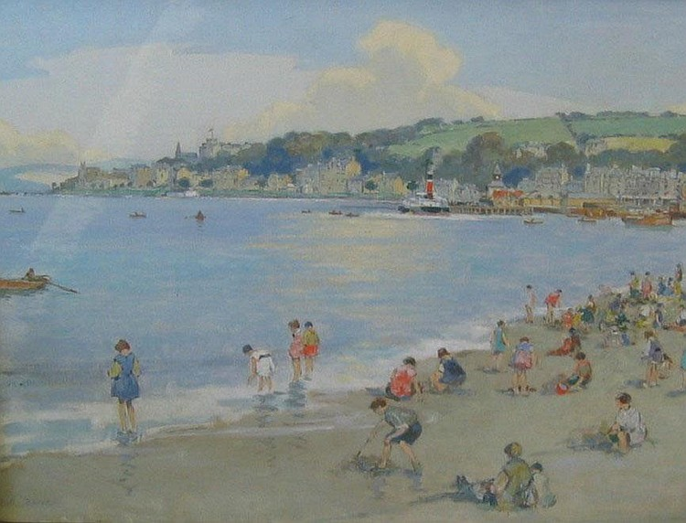 Robert Eadie RSW (1877-1954) A View of Rothesay -