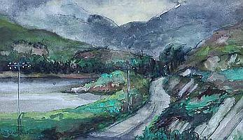 OUGHTRED BUCHANAN The Kyle Road watercolour,