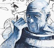 JAMES S DAVIS DA RSW Picasso Picking His Nose oil
