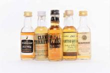 OVER 50 SINGLE MALT SCOTCH WHISKY MINIATURES To include Bladnoch 8, Bowmore Dumpy, Glenfiddich 18 and Highland Park (clear label). Viewing recommended.