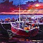JAMES S. DAVIS DA PAI RSW Tiree Harbour oil 20cm x